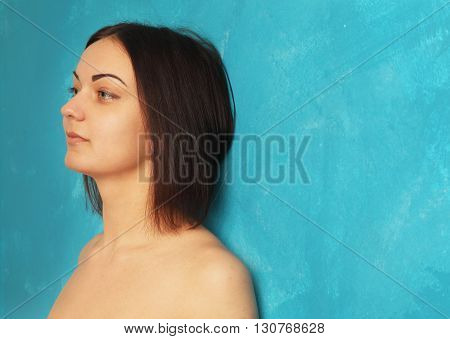 depressed woman (body language gestures psychological portrait)