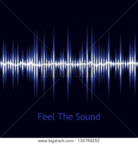 Music background, Vector sound wave, Audio wave design, Blue sound wave