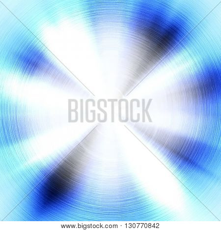 abstract blue metal with light background