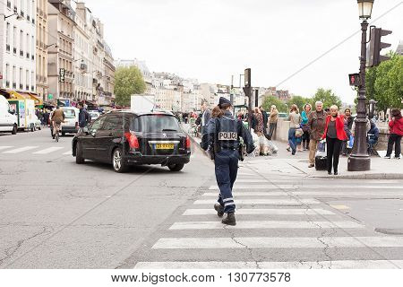 Female Police Officer Paris