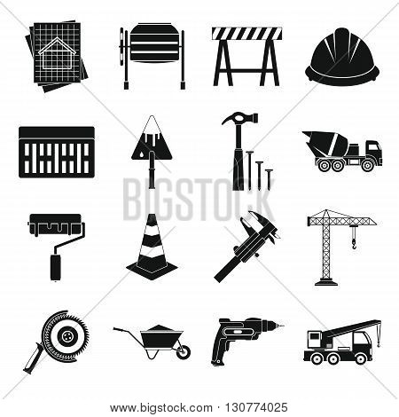 Architecture Icons set in simple style for any design