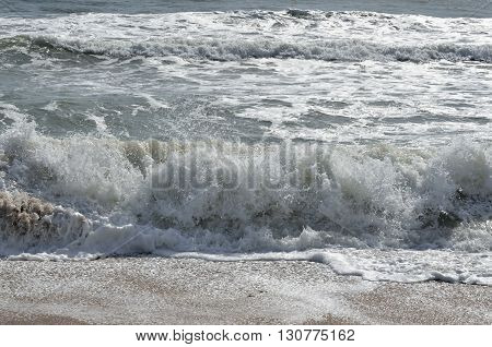 Ocean waves on the beach at Florida, USA