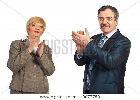 Mature Business People Applauding