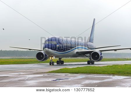 Airbus A320 Azerbaijan Airlines Taxiing