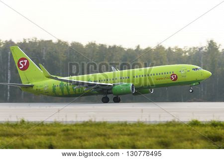 Aircraft Boeing737 S7 Airlines Taking Off