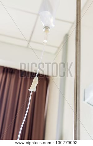 Saline Solution Iv At Hospital Room