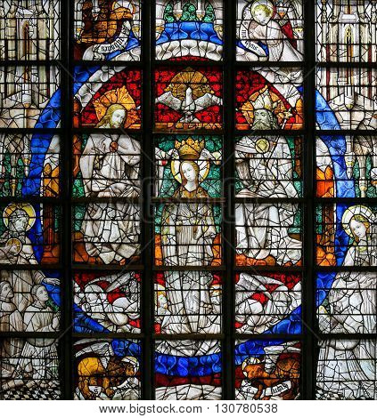 Stained Glass - Coronation Of Mary