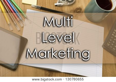 Multi Level Marketing Mlm - Business Concept With Text