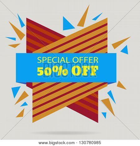 Discount Banner Special Offer Sale  Offer Eps 10 Vector Illustration