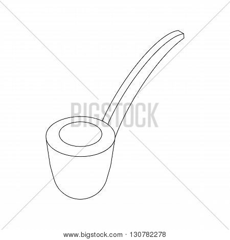 Smoke pipe icon in isometric 3d style on a white background