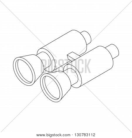 Binocular icon in isometric 3d style on a white background