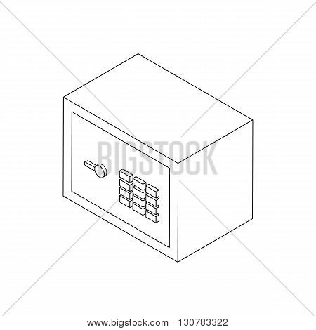 Security safe icon in isometric 3d style on a white background