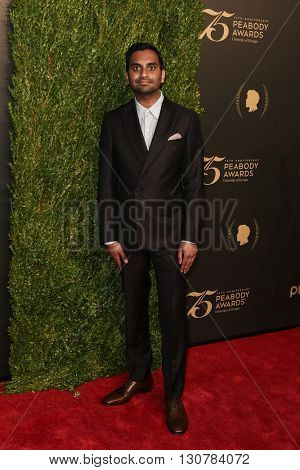 NEW YORK-MAY 21: Aziz Ansari attends the 75th Annual Peabody Awards Ceremony at Cipriani Wall Street on May 21, 2016 in New York City.