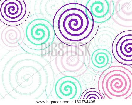 Texture Spiral colorful ornament. Spiral background. Circle background