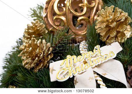 Christmas decoration isolated on white background.