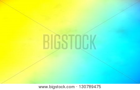 Background paint stains multicolored smoke. Watercolor smoky. Watercolor background. Yellow-blue color.