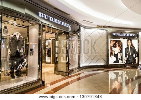 Kuala Lumpur, Malaysia, May 20, 2016:  Retail Outlet Of Burberry At Klcc, Kuala Lumpur.  Burberry Gr