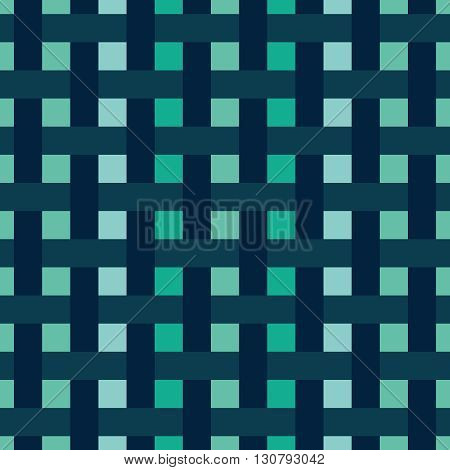 Squares vector pattern with interwoven stripes. Abstrat geometric texture.