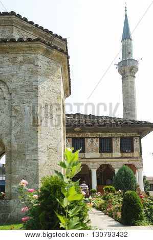 Macedonia, Tetovo, Decorated Mosque a.k.a Šarena Džamija/Xhamia e Pashës