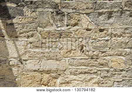Stone Wall Background exterior on old building