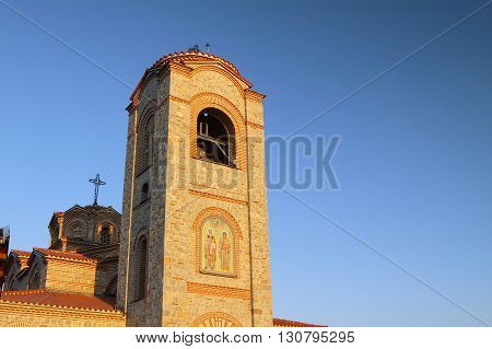 Macedonia Ohrid/Ochrid Saint Clement and Pantelimon orthodox church tower