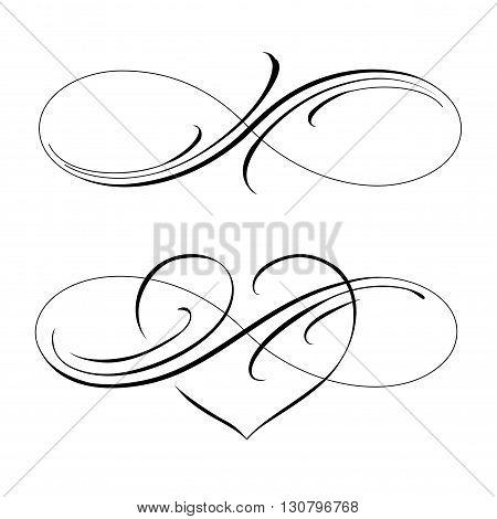 Infinity love icon vector valentines day symbol