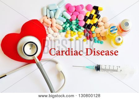 Syringe with drugs for cardiac disease treatment