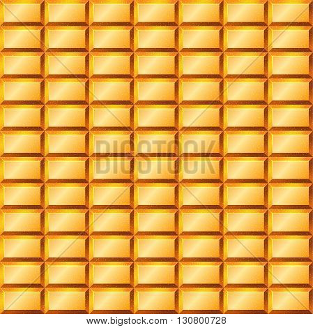Seamless texture with gold bullion. Vector illustration