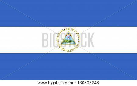 Nicaragua flag image for any design in simple style