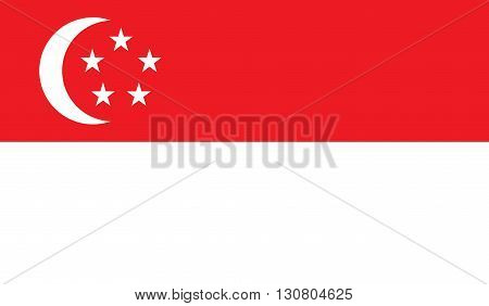 Singapore flag image for any design in simple style