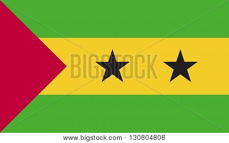 Sao Tome and Principe flag image for any design in simple style