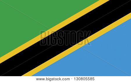Tanzania flag image for any design in simple style