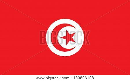 Tunisia flag image for any design in simple style
