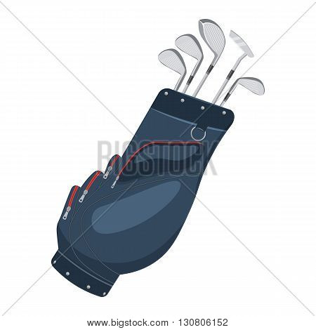 Golf bag vector illustration isolated on a white background