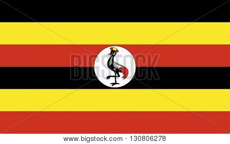 Uganda flag image for any design in simple style