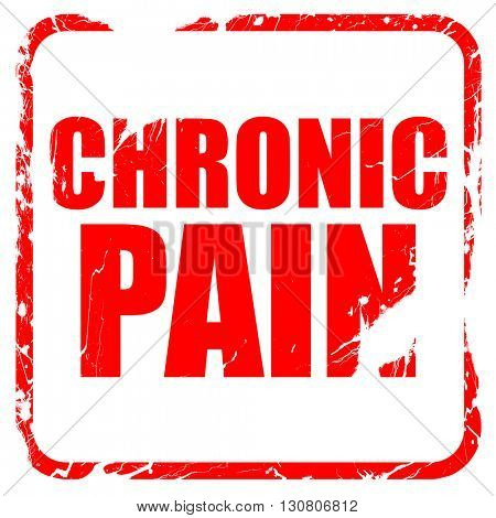 chronic pain, red rubber stamp with grunge edges