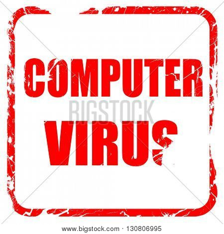 Virus removal background, red rubber stamp with grunge edges