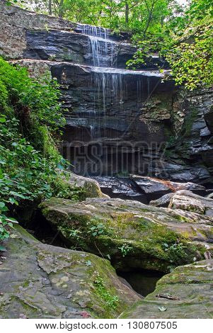 Burden Falls is one of the highest waterfalls in Illinois USA
