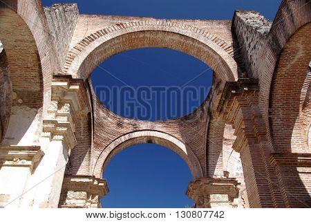 Cathedral in Antigua in Guatemala, Central America