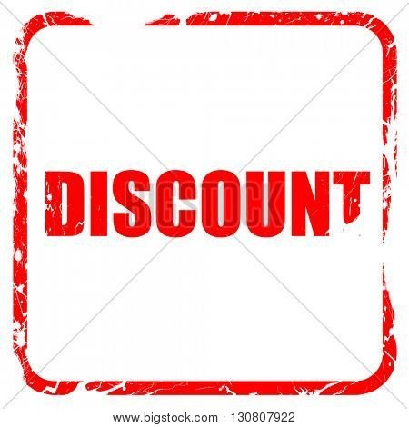 discount sign background, red rubber stamp with grunge edges