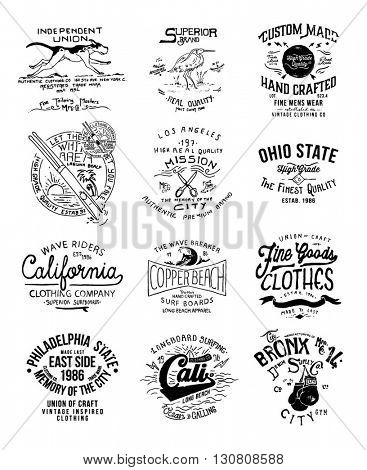 vintage type hand write label collection