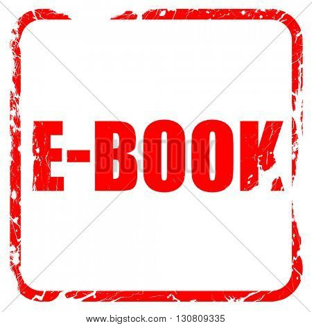 e-book, red rubber stamp with grunge edges