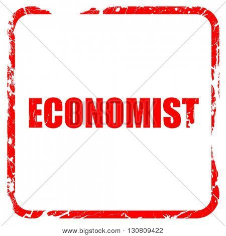 economist, red rubber stamp with grunge edges
