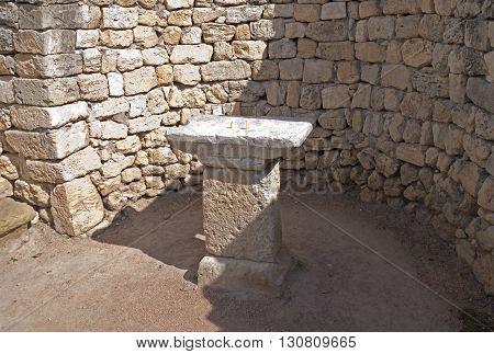 Classical Greek altar on territory of Chersonesos