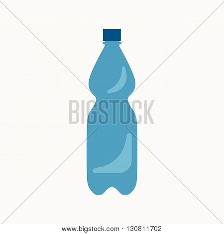 Plastic waste flat concept.  Vector illustration of sorting plastic waste. Icon of plastic waste for garbage disposal design.  Plastic waste sorting management .