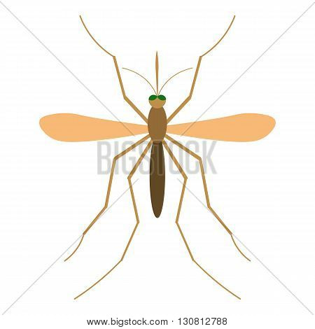 Mosquito vector illustration. Mosquito isolated on white background. Mosquito vector icon illustration. Anopheles Mosquito isolated vector.