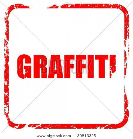 graffiti, red rubber stamp with grunge edges