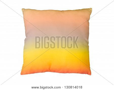 Colorful decorative pillow. Isolated on white background