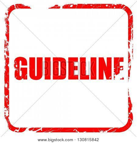 guideline, red rubber stamp with grunge edges
