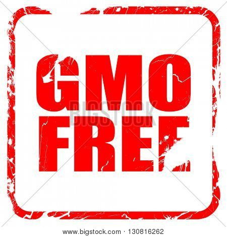 gmo free, red rubber stamp with grunge edges